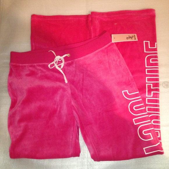 3938728752c5 Juicy Couture Pink velour pants raspberry sorbet